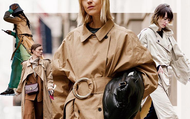 거리의 멋쟁이들이 트렌치코트를 입는 방법.