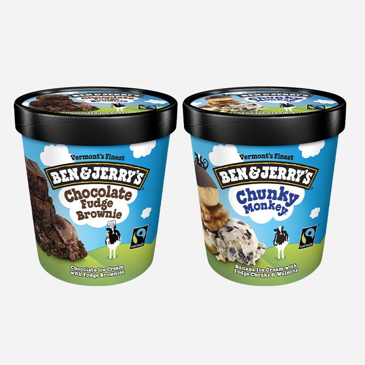 벤앤제리→진득하고 깊은 맛으로 유명한 원조 '미쿡 스타일' 아이스크림 벤앤제리가 17년 만에 한국에서 판매를 재개한다. 라스베이거스에서 시작한 벤앤제리는 유전자 조작에 반대하고 천연 재료를 사용하며 공정 무역과 저탄소 공정을 고집하는 아이스크림 브랜드로 2002년 잠시 한국 매장을 열었다가 철수한 바 있다. 현재 GS25 일부 매장을 통해 초콜릿 퍼지 브라우니, 초콜릿 칩 쿠키 도우, 바닐라, 청키 멍키 총 4가지 맛을 판매 중이며, 오는 10월쯤에 정식 출시할 예정이다. www.benjerry.com