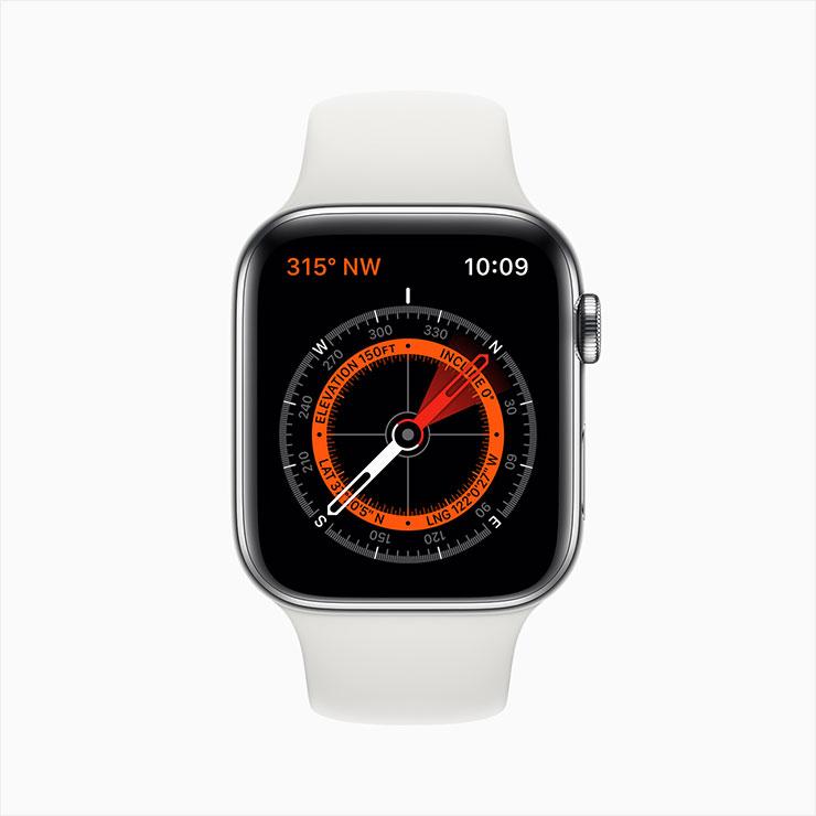 (새롭게 출시된 애플워치 시리즈5 에르메스 블랙 에디션과 내장 나침반 기능)