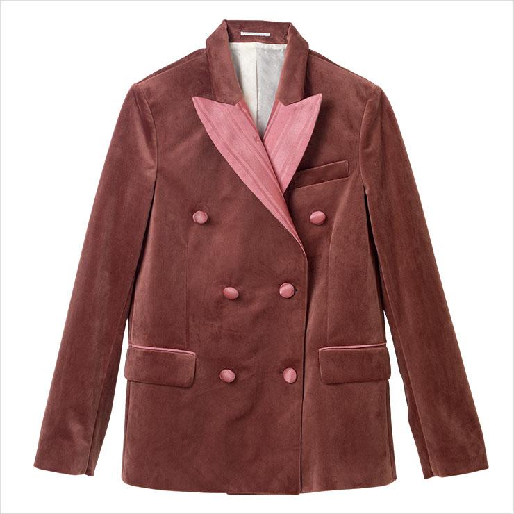 벨벳 소재가 복고적인 재킷은 가격 미정, Golden Goose.