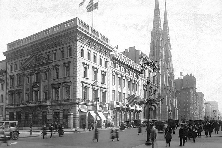1920년대 뉴욕 까르띠에 맨션의 모습.