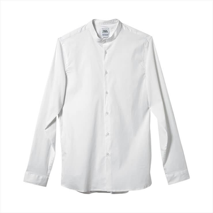 차이나 칼라 셔츠는 가격 미정, Zara.