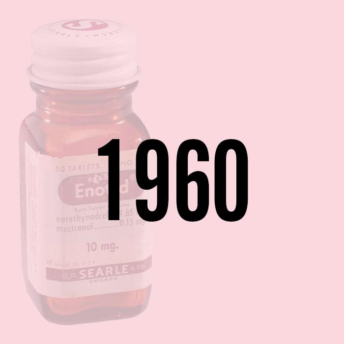 FDA가 최초로 여성을 위한 호르몬성 피임약인 에노비드를 승인했다.