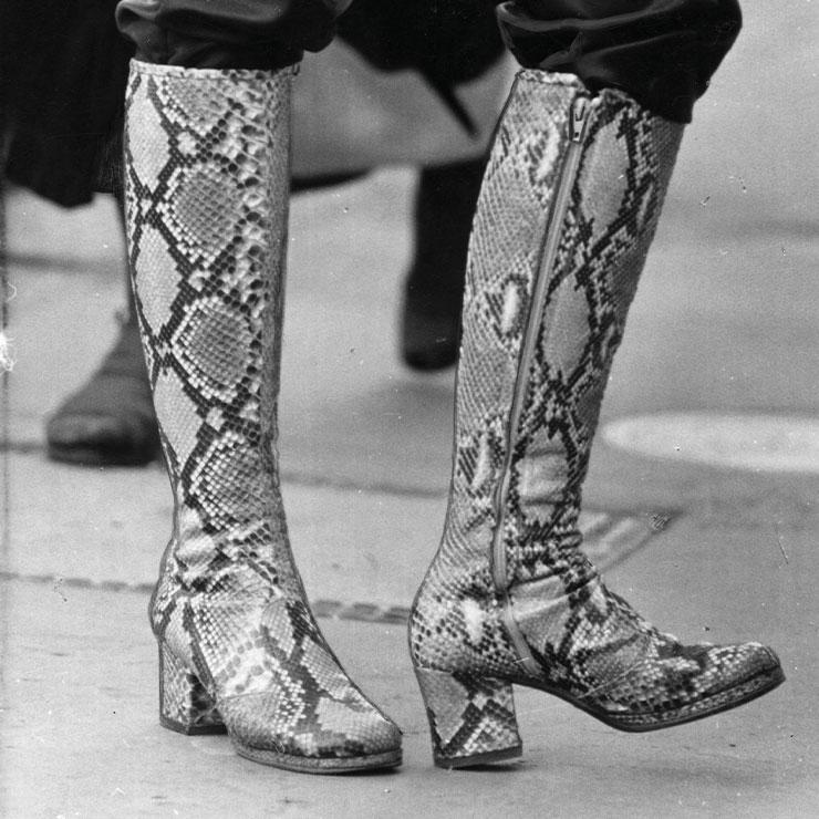 1971년도 가죽부츠.