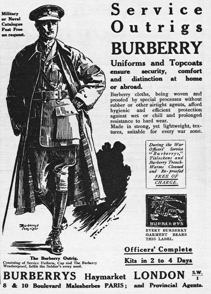 1918년, 버버리 광고