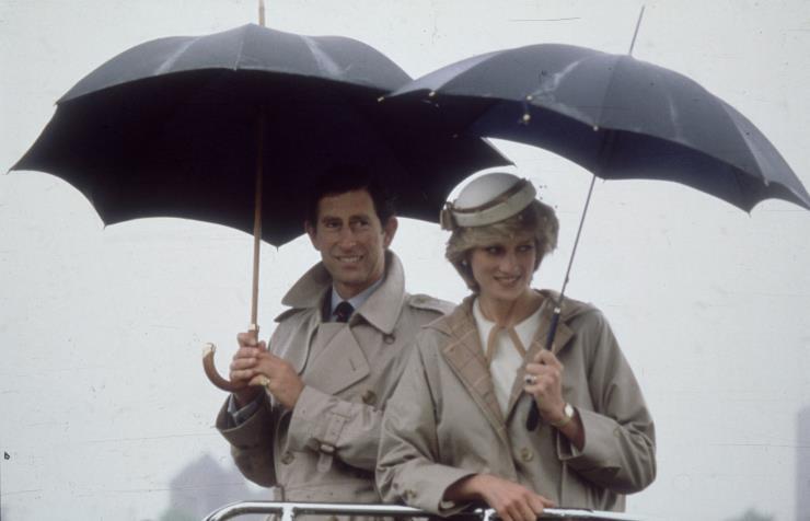 1983년, 노바스코샤에서 휴가를 보내고 있는 찰스 왕세자와 다이애나 빈