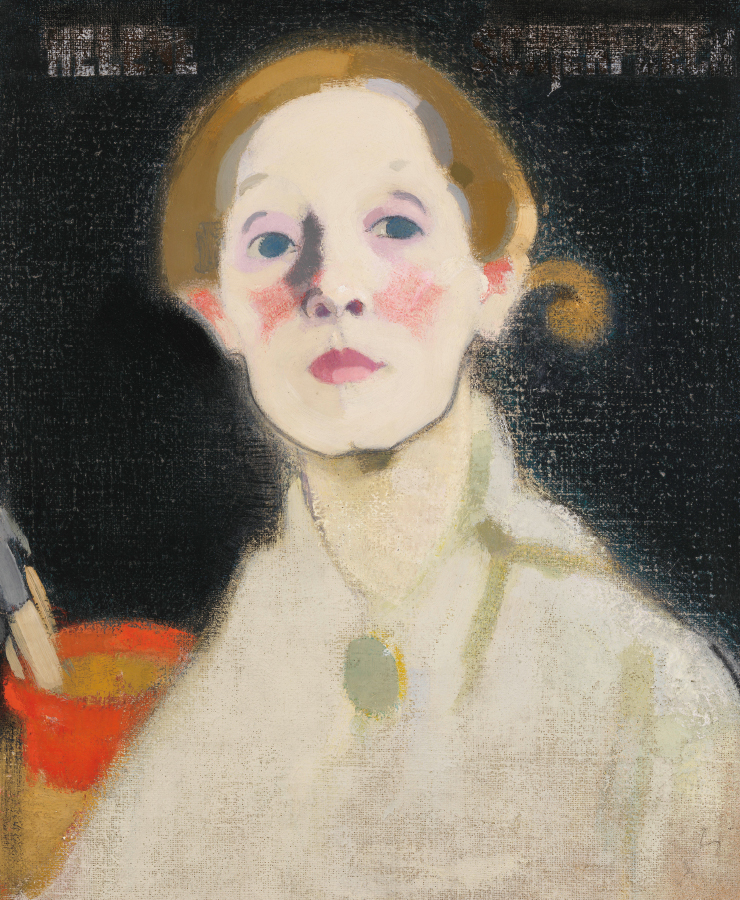 Helene Schjerfbeck, 'Self-portrait, Black Background', 1915, Oil on canvas, 45.5x36cm, Herman and Elisabeth Hallonblad Collection. Finnish National Gallery / Ateneum Art Museum; photo: Yehia Eweis