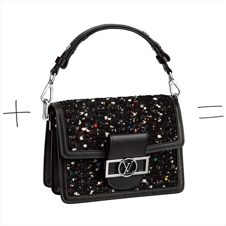 트위드 소재의 미니 도핀 백은 3백78만원, Louis Vuitton.