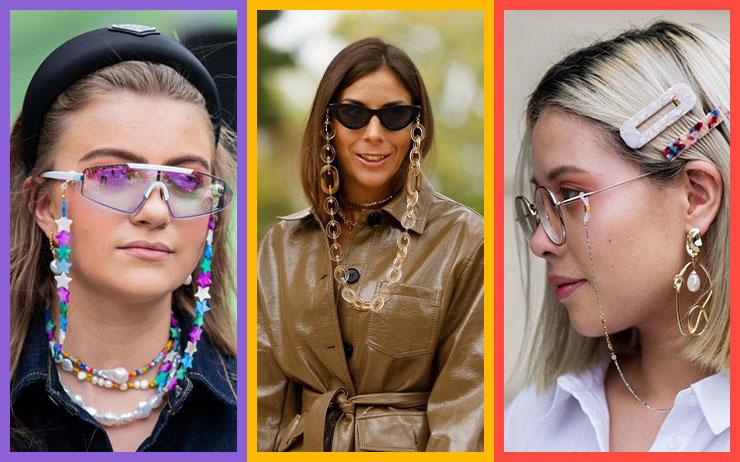 할머니들이 즐겨 사용하는 안경 체인이 이번 시즌 트렌드 아이템으로 떠오른다!