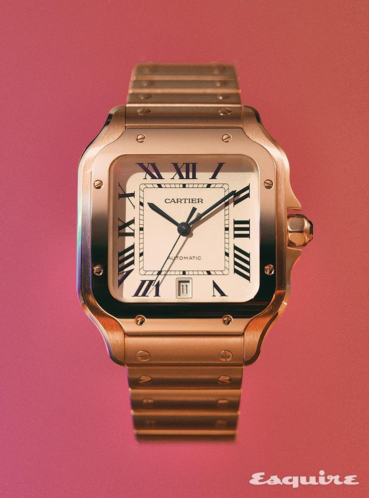 핑크 골드 39.8x47.5mm 오토매틱 무브먼트 4200만원대 까르띠에.