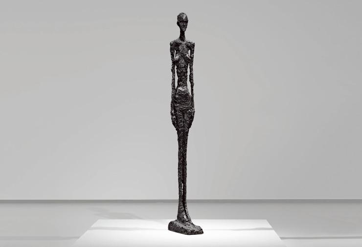 Alberto Giacometti, Grande Femme II (1960). Courtesy of the Fondation Louis Vuitton. © Succession Alberto Giacometti (Fondation Alberto et Annette Giacometti) © Adagp, Paris 2019. Photo: Marc Domage