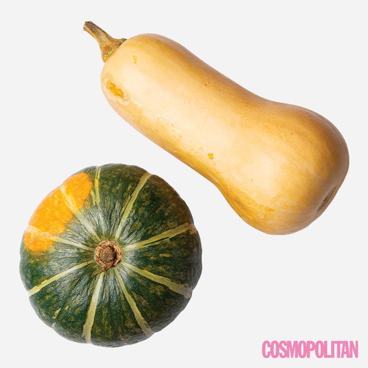 조롱박 모양의 겨울 호박. 기존의 호박보다 당도가 높고 부드러운 맛이 난다. 항암 물질인 베타크립토잔틴 성분이 다량 함유돼 있어 암 예방에 효과적이며, 비타민 A가 풍부해 눈과 피부 건강에도 좋다.