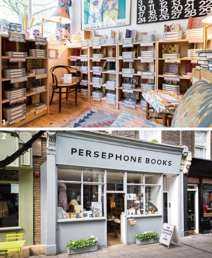 1 페르세포네는 여성 작가의 작품만을 판매한다. 2 마치 양장점 같은 쇼윈도.