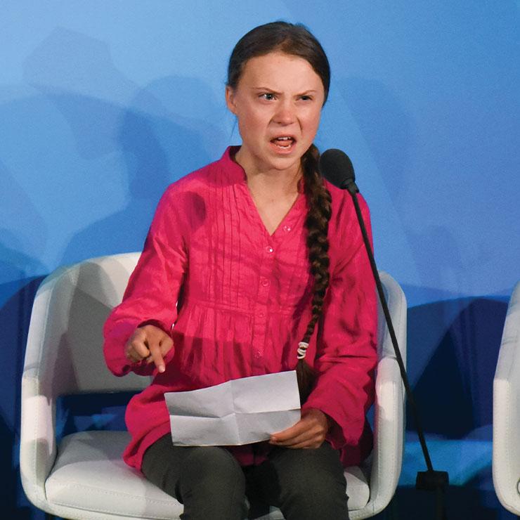청소년 환경 운동가 그레타 툰베리.