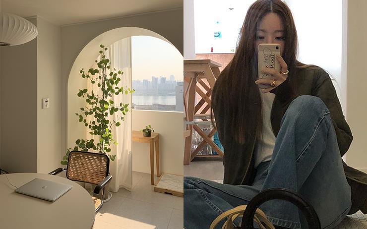 서울에 있는 아파트 맞나요? 따라하고 싶은 감각을 소유한 브이로그 유튜버 오눅이 <엘르>에만 공개한 홈 스타일링 비법!