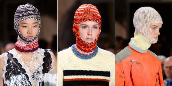지난 시즌 다양한 종류의 발라클라바를 선보인 Calvin Klein 18FW.