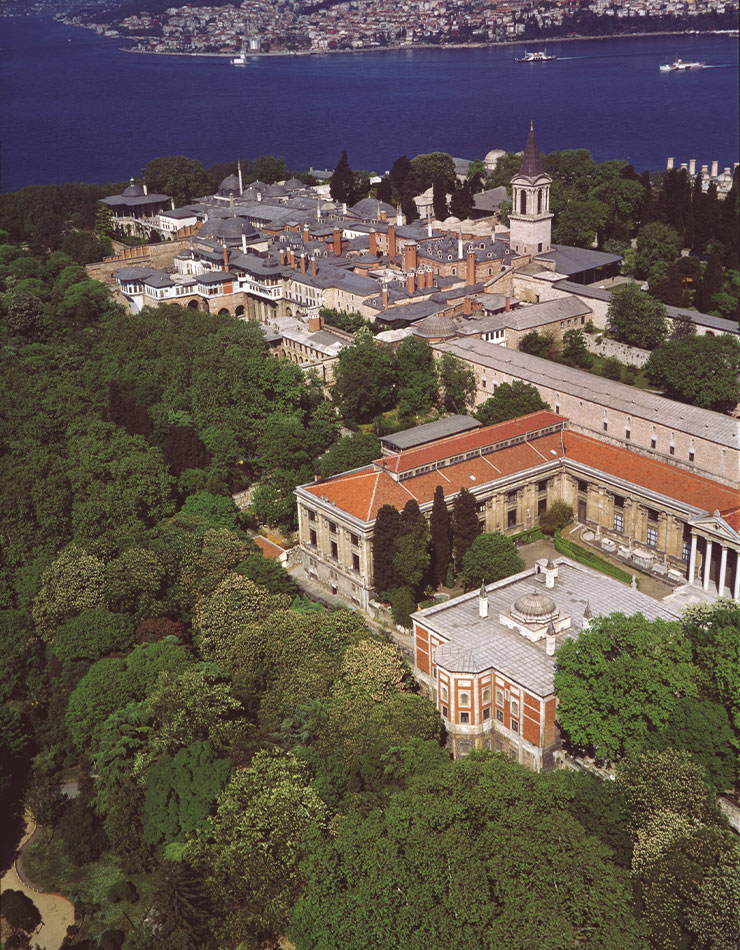 톱카프 궁전의 전경.