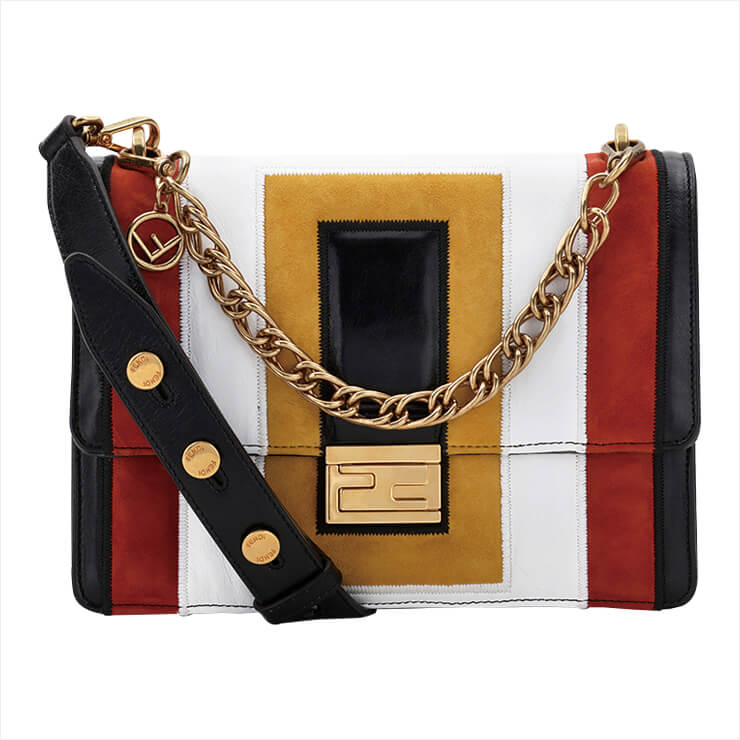 감각적인 컬러 조합이 돋보이는 가방은 가격 미정, Fendi.