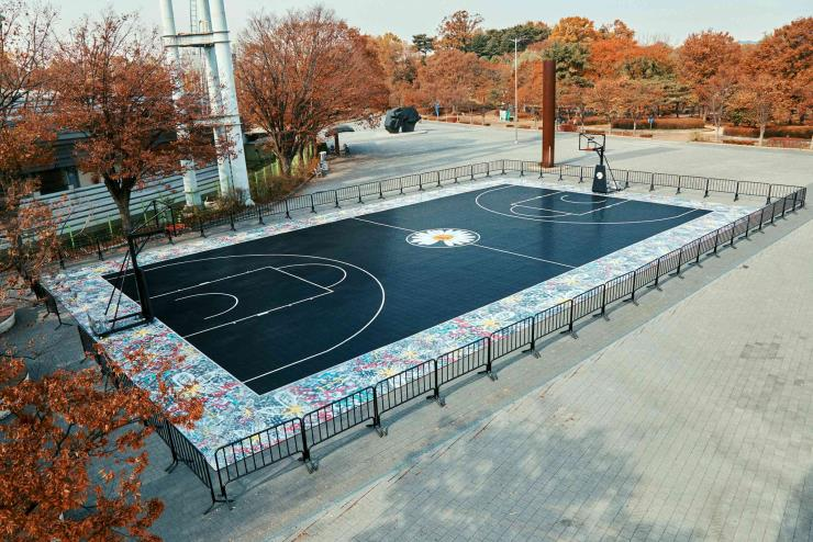 나이키와 지드래곤이 기증한 서울 올림픽공원의 농구 코틈
