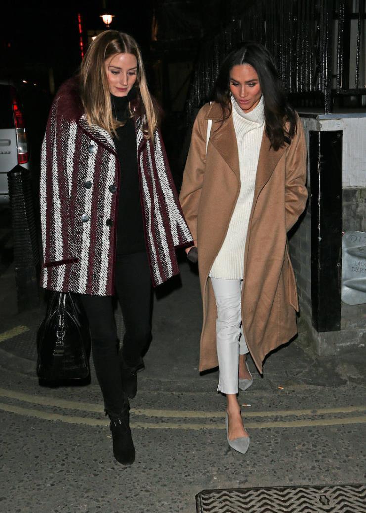 막스마라 마누엘라 코트를 입은 메건 마클
