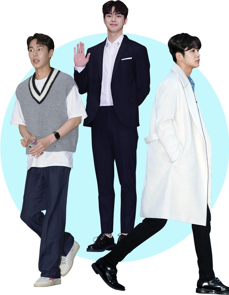 (왼쪽부터)이재욱(187cm) /송강(185cm) / 로운(192cm)