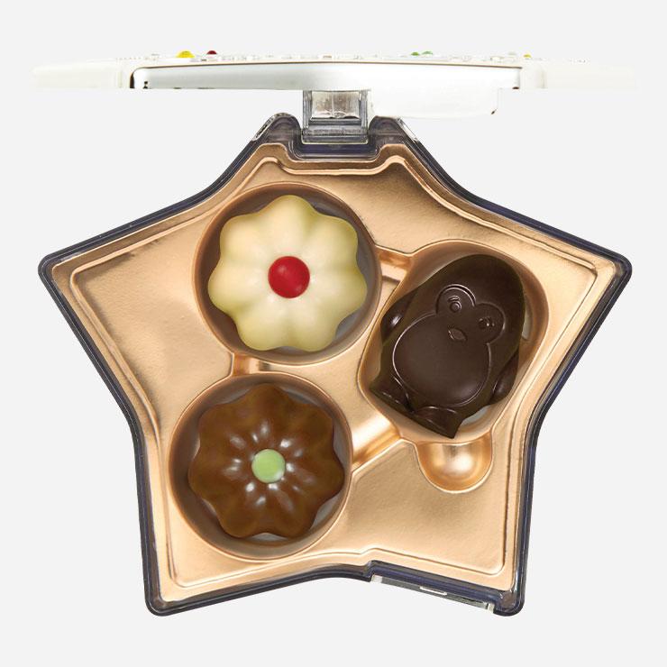 영롱한 큐빅이 박힌 별 모양 케이스가 돋보이는 초콜릿 세트 킵세이크 가격미정 고디바.