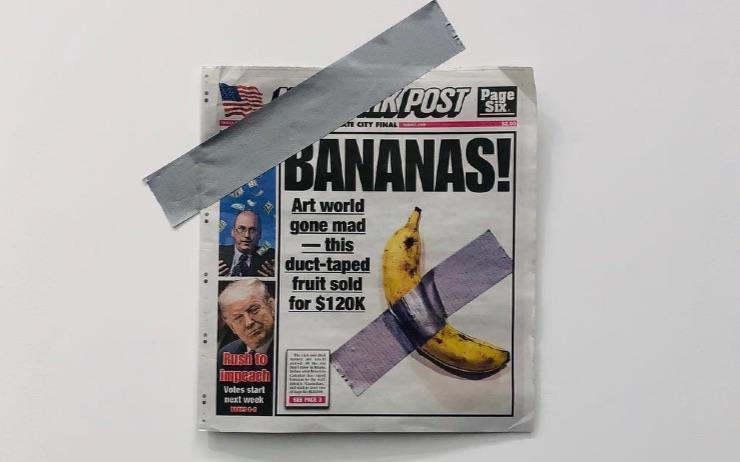 무려 1억 4천만원 짜리 바나나는 도대체 누가 먹었나.