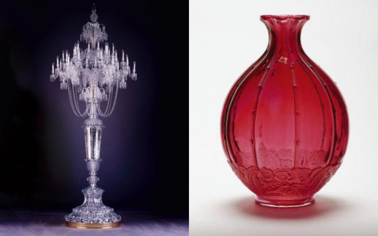 99피스의 '젬 디올(Gem Dior)' 아트 피스 전시와 255년 된 크리스털 브랜드 바카라의 전시.