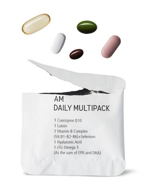 한 포에 5가지 영양제를 섭취할 수 있는 'AM 데일리 멀티팩'
