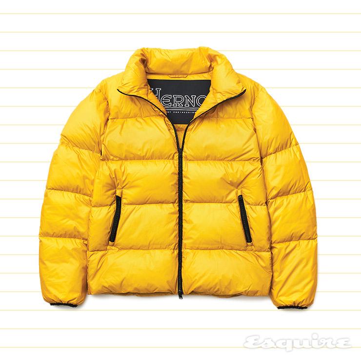 노란색 오버사이즈 다운재킷 가격 미정 에르노.