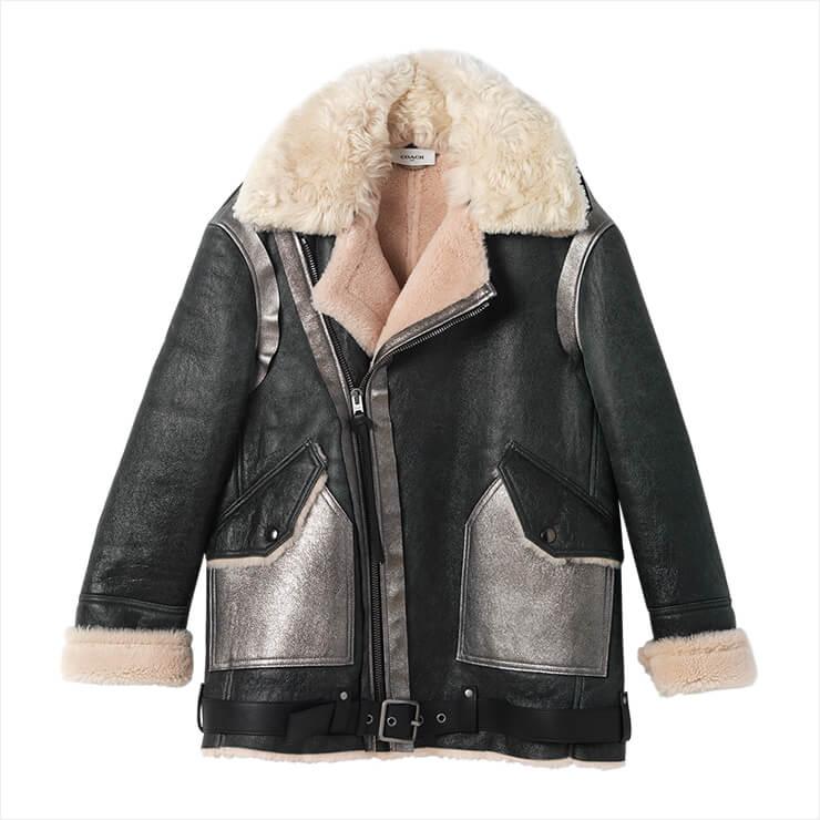 그레이와 핑크 컬러가 조합된 무통 재킷은 가격 미정, Coach 1941.