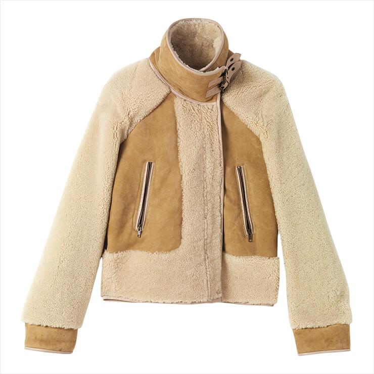 시어링이 패치워크된 무통 재킷은 2백58만원, Vanessabruno.