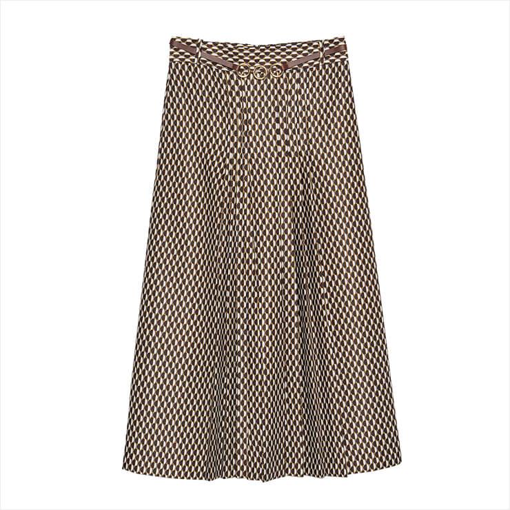 레트로 무드의 체크 패턴 스커트는 12만8천원, Zara.
