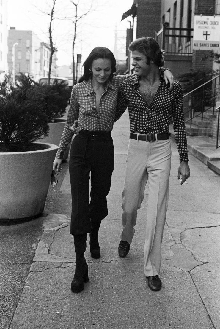 다이앤 본 퍼스텐버그와 당시 남편 바론 에곤 본 퍼스텐버그. 1970년. @게티이미지