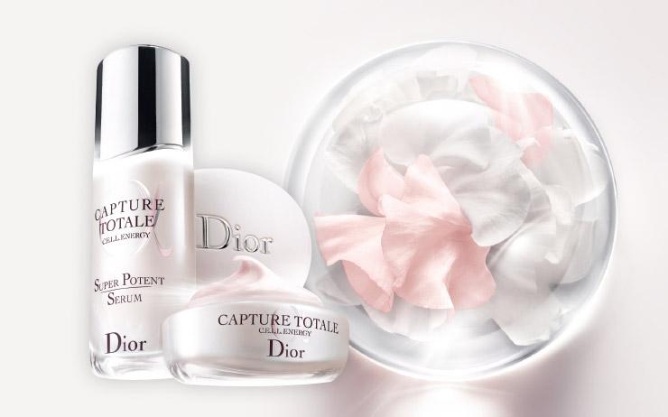 Dior 캡춰 토탈 쎌 에너지 슈퍼 포텐트 세럼 30ml 17만5천원대, 50ml 25만3천원대. Dior 캡춰 토탈 쎌 에너지 퍼밍 앤드 링클-코렉팅 크림 19만원대.