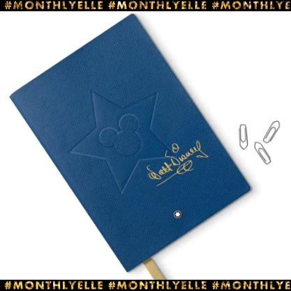 미키마우스가 각인된 디즈니 스페셜 에디션 레더 커버 노트는 12만원, Montblanc.