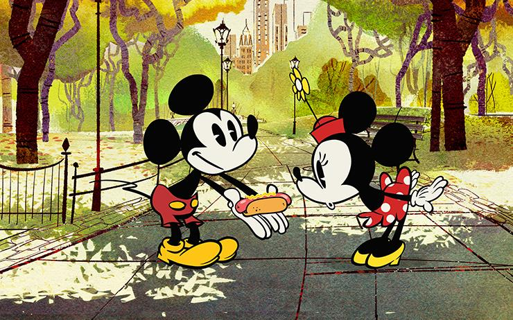 미키마우스와 톰과 제리가 새해 주인공.