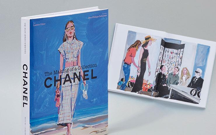샤넬 컬렉션이 탄생하는 전 과정을 패션 저널리스트의 글과 패션 일러스트레이션으로 상세하게 담아냈다.