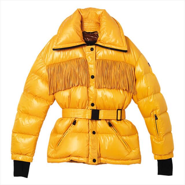 리드미컬한 프린지 장식의 패딩 다운 재킷은 3백19만원, 3 Moncler Grenoble.