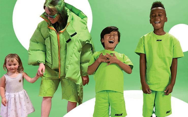 Z세대를 대표하는 아이콘 빌리 아일리시가 어번 아웃피터스와 함께 아동복 라인을 론칭했다.