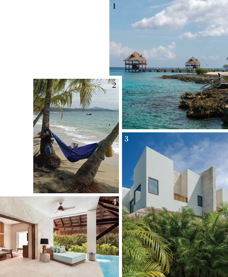 1, 2 유카탄 반도의 해변.3 차블레 마로마 호텔.4 호텔의 프레지덴셜 빌라.