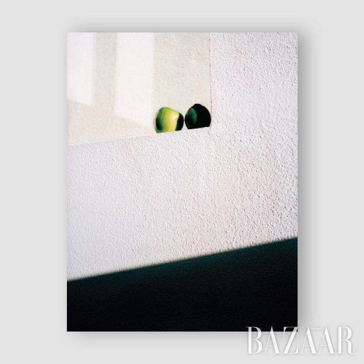 〈Apple & Lime, San Diego〉, 2019. 샌디에이고 친구 집에서 멕시코 맥주를 먹기 위해 사온 라임과 호텔에서 챙겨 온 웰컴 사과.