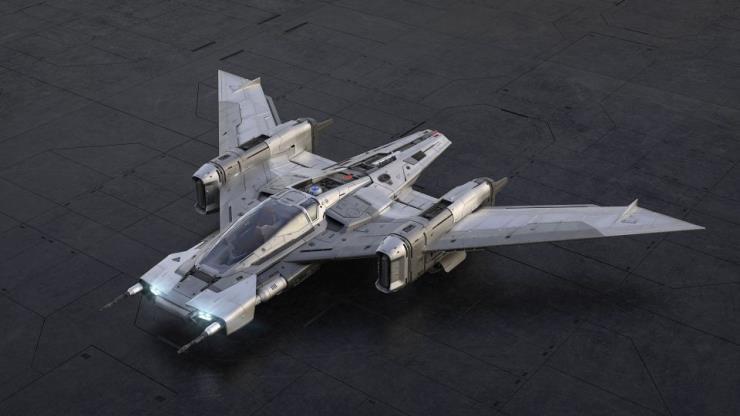 <스타워즈: 라이즈 오브 스카이워커>의 미국 개봉과 함께 스타파이터 전투기 모형이 전시됐다.