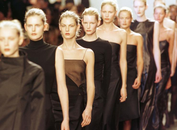 캘빈 클라인 1999년 F/W 컬렉션. Ⓒ게티이미지