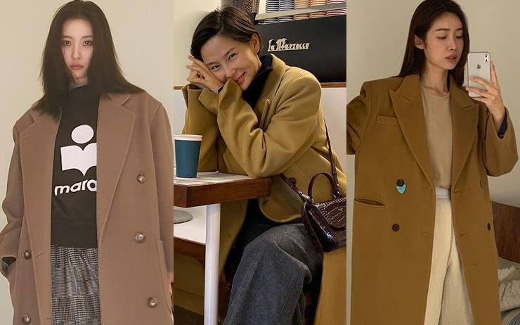 캐러멜 컬러의 테일러드 코트는 겨울철 빼놓을 수 없는 스테디셀러 아이템이죠. 카페라떼처럼 부드러운 매력의 캐멀 코트의 공식을 소개합니다.