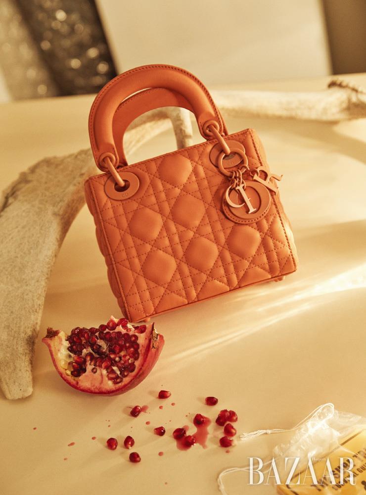 송아지 가죽 소재의 '레이디 디올(Lady Dior)' 백은 Dior.