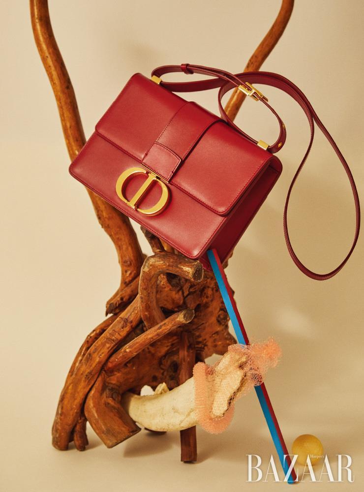 로고 잠금 장치가 돋보이는 '30 몽테인(30 Montaigne)' 백은 Dior.