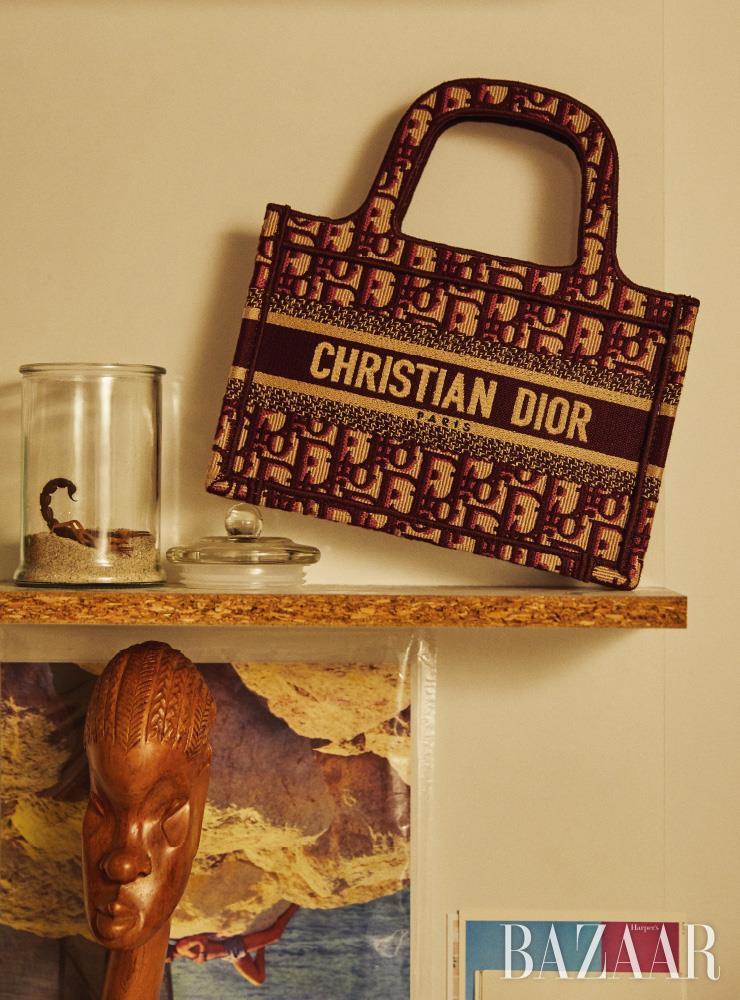 디올 오블리크 엠브로이더리 캔버스 소재의 '디올 북 토트(Dior Book Tote)' 미니 백은 Dior.