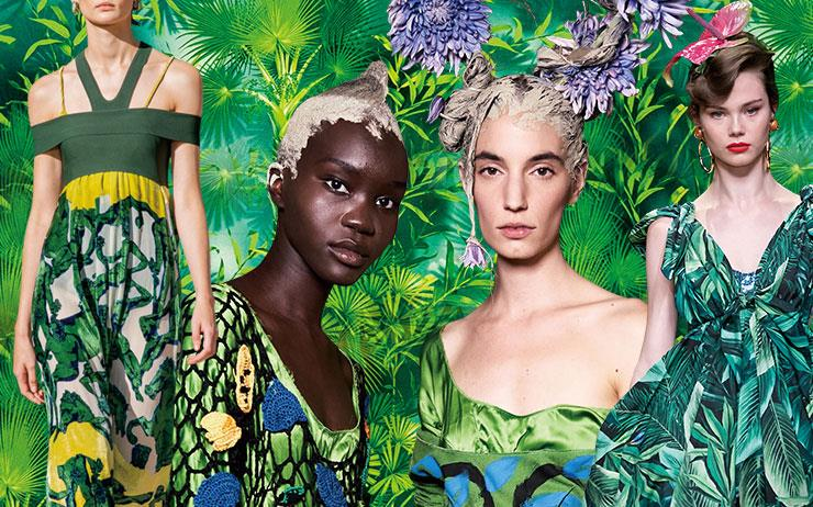 2020 S/S 컬렉션에 제이 로의 전설적인 베르사체 드레스를 비롯해 트로피컬 패턴이 대거 등장했다. 이번 봄 여름 도심은 휴양지 무드로 흠뻑 물들 듯 하다.
