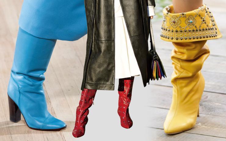 간절기 스타일링 포인트가 될 다채로운 컬러의 가죽 부츠 아이템!